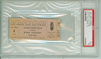 1951 BING CROSBY Full Ticket CBS Radio Playhouse Hollywood CA Oct 3, 1951 Near Mint