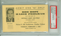 1944 BOB HOPE Event Pass Chaffey College Ontario Canada Feb 1, 1944 PSA/DNA Authentic