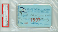 1897 Vintage Steamship Pass - The Clyde Steamship Co Museum Quality Americana PSA/DNA Authentic Slabbed