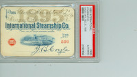 1896 Vintage Steamship Pass - International Steamship Co Museum Quality Americana PSA/DNA Authentic Slabbed
