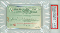 1897 Vintage Steamship Pass - The Ocean Steamship Co Museum Quality Americana PSA/DNA Authentic Slabbed