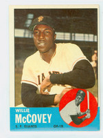 1963 Topps Baseball 490 Willie McCovey Tough Series San Francisco Giants Very Good to Excellent