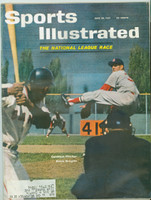 1961 Sports Illustrated June 26 Ernie Broglio / Willie Mays Fair to Poor [Heavy moisture - readable throughout]