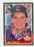 Roy Smith AUTOGRAPH 1985 Donruss #611 Indians 