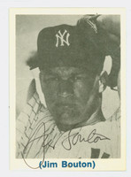 Jim Bouton AUTOGRAPH Yankees ASCCA 1970s Card Show Yankees 