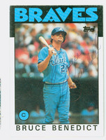 Bruce Benedict AUTOGRAPH 1986 Topps #78 Braves 