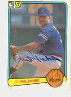Phil Niekro AUTOGRAPH 1983 Donruss #97 Braves 