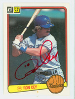 Ron Cey AUTOGRAPH 1983 Donruss #84 Dodgers 