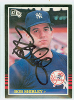 Bob Shirley AUTOGRAPH 1985 Donruss #370 Yankees 