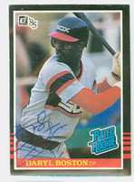 Daryl Boston AUTOGRAPH 1985 Donruss #33 White Sox 
