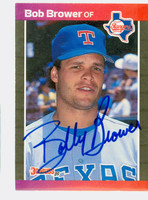 Bob Brower AUTOGRAPH 1989 Donruss Rangers 