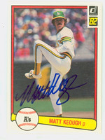 Matt Keough AUTOGRAPH 1982 Donruss #71 Athletics 