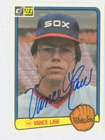 Vance Law AUTOGRAPH 1983 Donruss #117 White Sox 