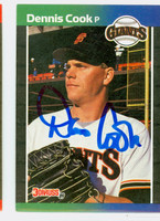 Dennis Cook AUTOGRAPH 1989 Donruss Giants 