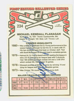Mike Flanagan AUTOGRAPH d.11 1981 Donruss #234 Orioles Back Signed 