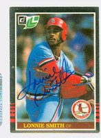 Lonnie Smith AUTOGRAPH 1985 Donruss #231 Cardinals LEAF 