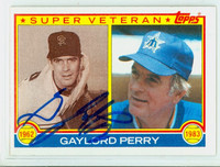 Gaylord Perry Super Vet AUTOGRAPH 1983 Topps Super Vet Mariners   [SKU:PerrG1629_T83BBSVX2]