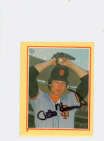 Atlee Hammaker AUTOGRAPH 1984 Fleer Star Sticker Giants 