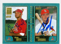 Chris Morris - Shaun Boyd DUAL SIGNED 2001 Topps ROOKIES Cardinals 
