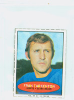 1971 Bazooka Football 25 Fran Tarkenton New York Giants Good to Very Good