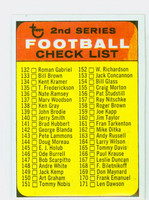 1968 Topps Football 219 b Checklist Two BLUE  Very Good