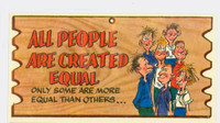 1959 Wacky Plaks 31 All People Are Created Equal Very Good to Excellent