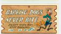 1959 Wacky Plaks 58 Barking Dogs Never Bite Very Good to Excellent