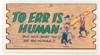 1959 Wacky Plaks 83 To Err is Human Excellent to Mint