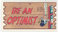 1959 Wacky Plaks 84 Be An Optimist Excellent to Mint