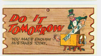 1959 Wacky Plaks 87 Do It Tomorrow Very Good to Excellent