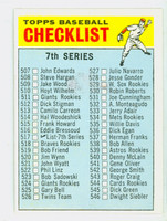 1966 Topps Baseball 517 Checklist Seven Semi High Number W. SOX  Excellent