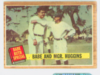 1962 Topps Baseball 137 Babe And Huggins Excellent Green
