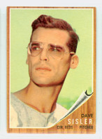 1962 Topps Baseball 171 Dave Sisler Cincinnati Reds Very Good to Excellent Green