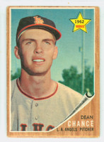 1962 Topps Baseball 194 Dean Chance ROOKIE Los Angeles Angels Good to Very Good Green