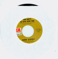 This Guy's In Love With You | A Quiet Tear (Lagrima Quieta) [by Herb Alpert And The Tijuana Brass] - Herb Alpert (A&M Records 1968) Near-Mint to Mint (8 out of 10) - Vintage 45 RPM Vinyl Record Near-Mint to Mint