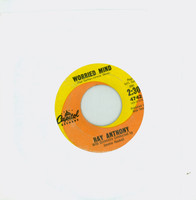 Worried Mind | Al Di La - Ray Anthony And His Orchestra (Capitol Records 1962) Excellent (5 out of 10) - Vintage 45 RPM Vinyl Record Excellent[Lt wear on record and label, plays fine]