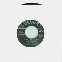 Fine And Dandy (Side 3 of Box Set) | I Surrender Dear Pt 2 (Side 6 of Box Set) - Louis Armstrong And The All Stars (Decca Records 1950) Excellent (5 out of 10) - Vintage 45 RPM Vinyl Record Excellent[Lt wear on record and label, plays fine]