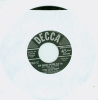 New Orleans Function-Part Two (Oh Didn't He Ramble) | My Buckets Got A Hole In It - Louis Armstrong And The All Stars (Decca Records 1950) Excellent (5 out of 10) - Vintage 45 RPM Vinyl Record Excellent[Lt wear on record and label, plays fine]