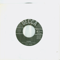 Padre | All At Once - Toni Arden (Decca Records 1958) Near-Mint (7 out of 10) - Vintage 45 RPM Vinyl Record Near-Mint