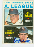 McNertney-McCabe DUAL SIGNED 1964 Topps AL Rookies #564 HIGH NUMBER CARD IS VG/ AUTO CLEAN