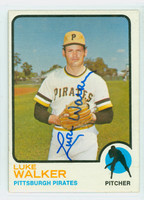 Luke Walker AUTOGRAPH 1973 Topps #187 Pirates CARD IS VG/ AUTO CLEAN