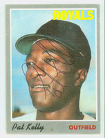 Pat Kelly AUTOGRAPH d.05 1970 Topps #57 Royals CREASE; CARD IS F/P