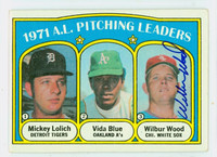 Wilbur Wood AUTOGRAPH 1972 Topps AL Pitching Leaders #94 White Sox 