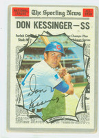 Don Kessinger AS AUTOGRAPH 1970 Topps #456 All Star Cubs HEAVY CREASE; AUTO CLEAN