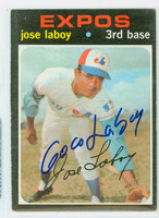 Jose Laboy AUTOGRAPH 1971 Topps #132 Expos CARD IS CLEAN EX