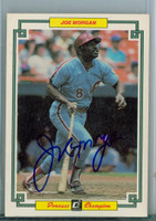 Joe Morgan AUTOGRAPH 1984 Donruss CHAMPIONS Phillies CARD IS VG/EX; AUTO CLEAN