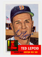 Ted Lepcio AUTOGRAPH d.19 Topps 1953 Archives Red Sox   [SKU:LepcT264_T53BBRPi3]