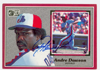 Andre Dawson AUTOGRAPH 1983 Donruss #9 Action All-Stars Expos 