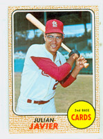 1968 Topps Baseball 25 Julian Javier St. Louis Cardinals Excellent to Mint