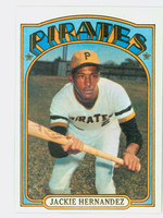 1972 Topps Baseball 502 Jackie Hernandez Pittsburgh Pirates Excellent to Mint